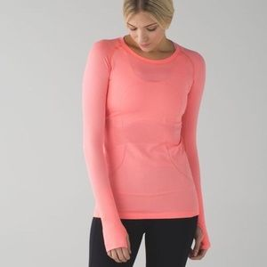 Lululemon Swiftly Tech coral long sleeve top 8